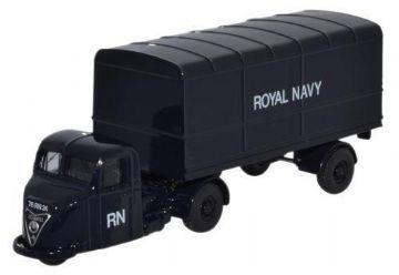 Oxford Diecast 76RAB010 Scammell Scarab Van Trailer Royal Navy - 1:76